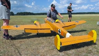 AMAZING RC MODEL AIRPLANE MESSERSCHMITT BF110 G-4 FLIGHT DEMO!! *REMOTE CONTROL PLANE