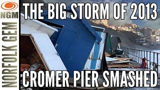 Tidal surge devastating power, Cromer, Norfolk, morning after.