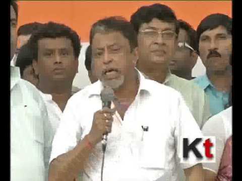 Mukul Roy Speaking at a Public Meeting of Trinamool Congress