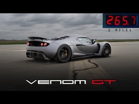 Venom GT Runs 0 to 265.7 mph in 2 Miles
