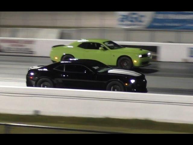 Hellcat Challenger Runs 11.9 @ 127mph  - 1/4 mile Drag Race