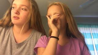 Camper did the blind folded nail polish challenge