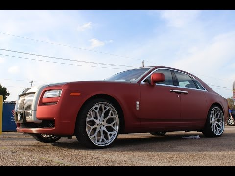 Veltboy314 - Brushed Red Wrapped Rolls Royce Ghost on 24