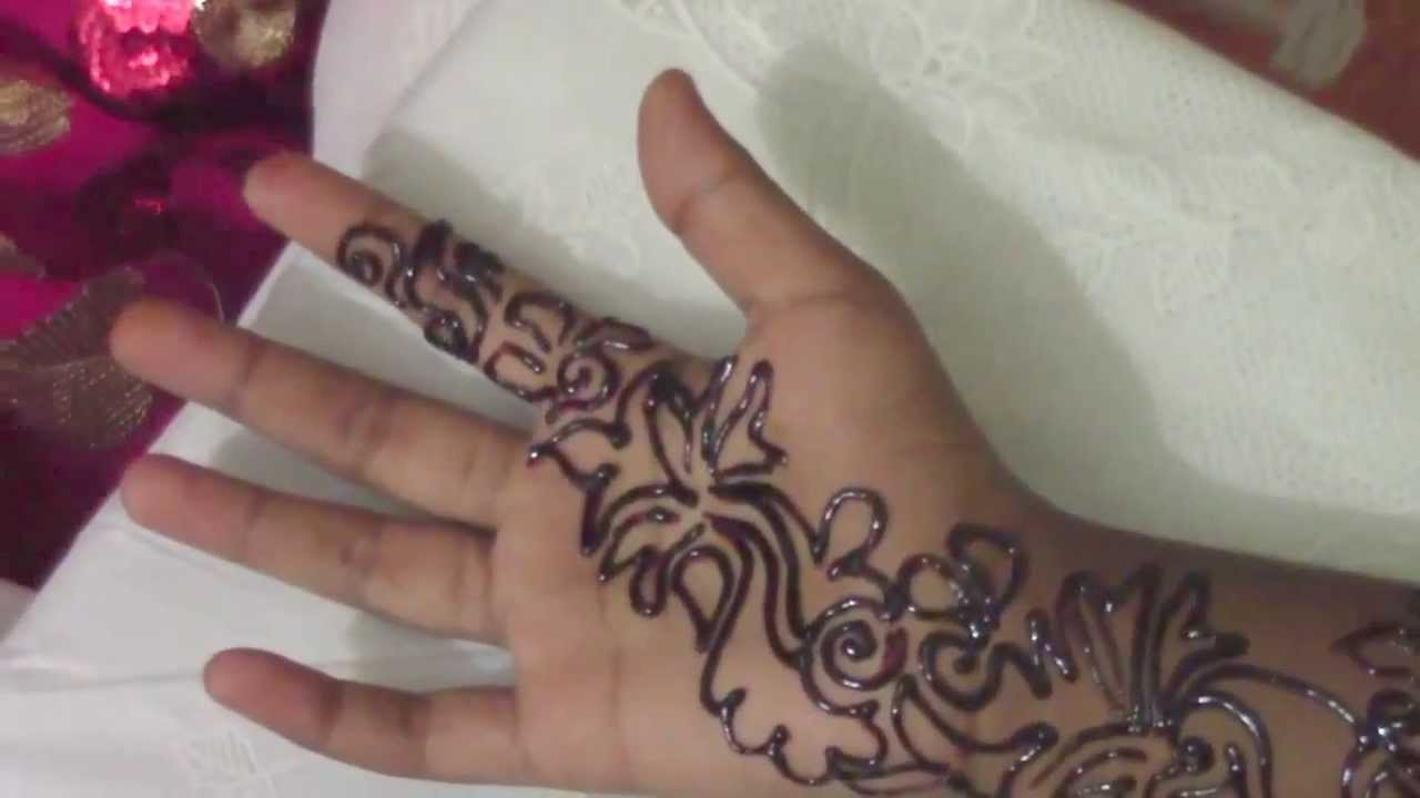 Mehndi Tutorial Design : Arabic mehndi henna step by tutorial design