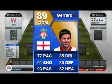FIFA 13 | TOTS STEVEN GERRARD 89 Review + In Game STATS!