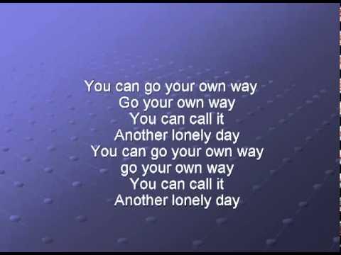 Fleetwood Mac - Go Your Own Way Lyrics | MetroLyrics