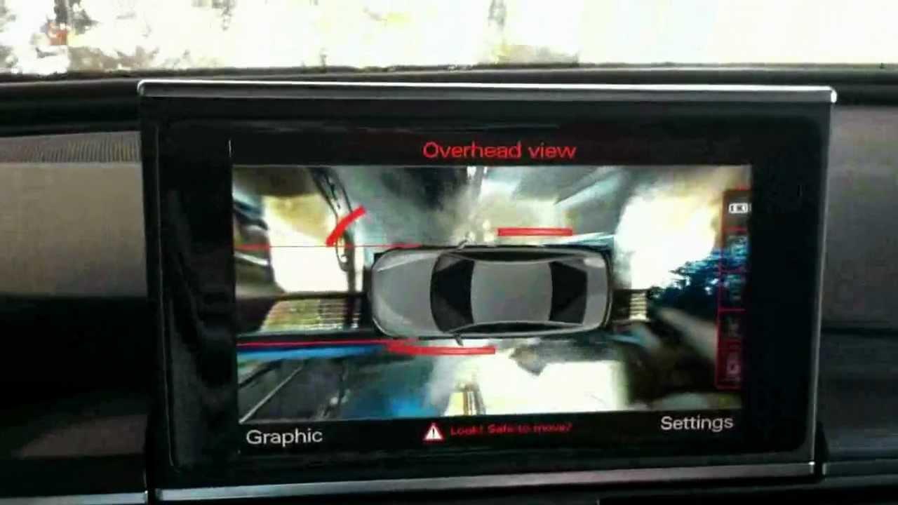 Audi Top View Camera Taken Through Car Wash Reuploaded