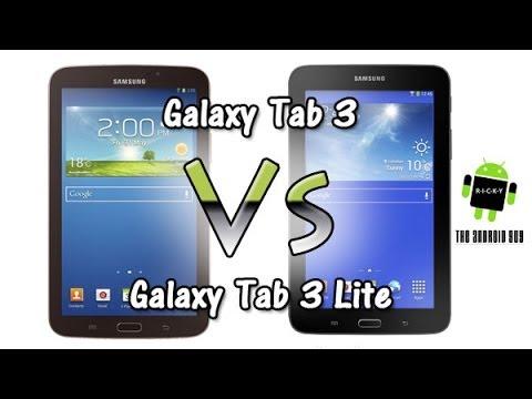 galaxy tab 3 vs tab 3 lite comparison   youtube