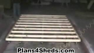 How To Build A Shed - Floor