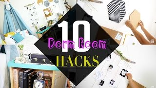 Top 10 BACK TO SCHOOL Dorm Room Decor HACKs | ANN LE