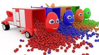 Learn Colors With Best Surprise Eggs and Animals Street Vehicles Car Soccer Balls Toys For Kids