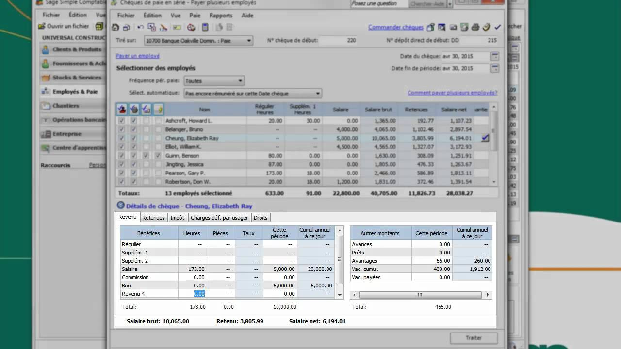 how to make paye with sage accounting