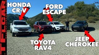 2019 Jeep Cherokee vs Honda CR-V vs Toyota RAV4 vs Ford Escape Mega Mashup Review