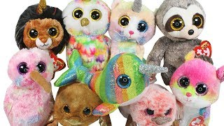 NEW Summer 2018 Beanie Boos Haul Unboxing Toy Review TY Beanie Boo Plush