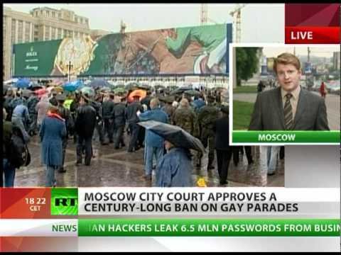 Gay parades banned for 100 years in Moscow