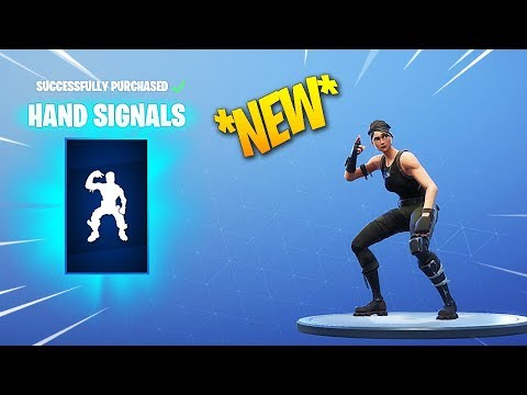 *NEW* FORTNITE HAND SIGNALS (Mini Take The L) &  HOT STUFF DANCE/EMOTE!