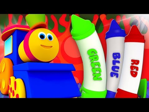 Bob il treno   Pastelli Colori canzone   impara i colori in italiano   Colors Song   Learn With Bob