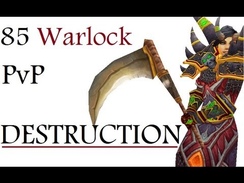Dommedag - Level 85 Destruction Warlock Twink Pvp - Mop Patch 5.1.5 video