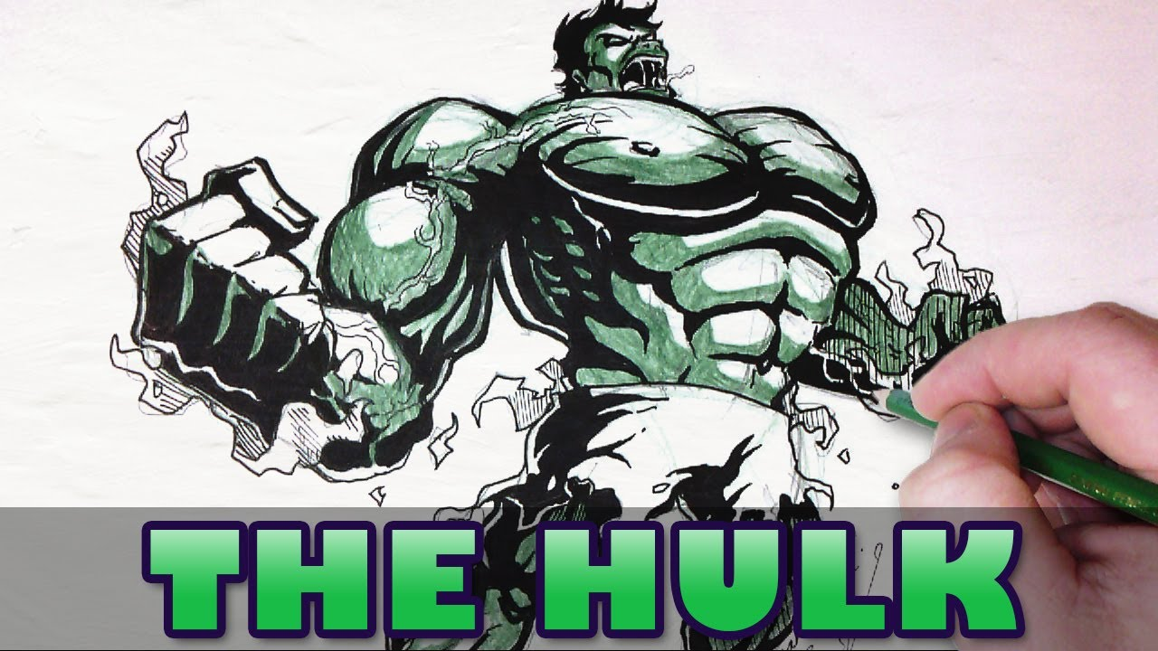 Character Design Draw With Jazza : Let s draw the hulk youtube