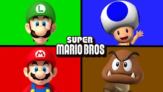 The Mario Bros | Matching & Learning Colors | Juniors Toons