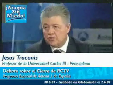 Debate en Antena 3 sobre RCTV (censurado por YouTube) 1 - 7