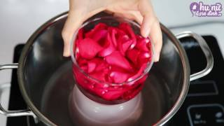 Cách làm nước hoa hồng dưỡng da tại nhà | how to make rose water