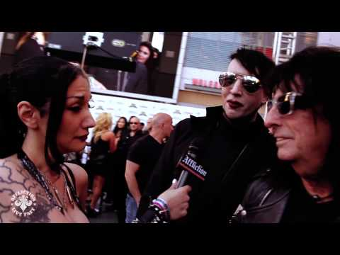 "Affliction - Halestorm, Marilyn Manson, and Alice Cooper meet ""Hell On Wheels"""
