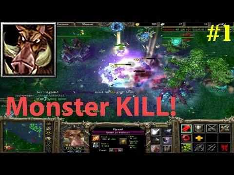 DoTa 6.83d - БРИСТЛБЕК В МИД | ГАЙД! ★ Monster KILL! #1