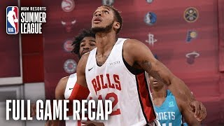 HORNETS vs BULLS | Daniel Gafford Posts Double-Double | MGM Resorts NBA Summer League