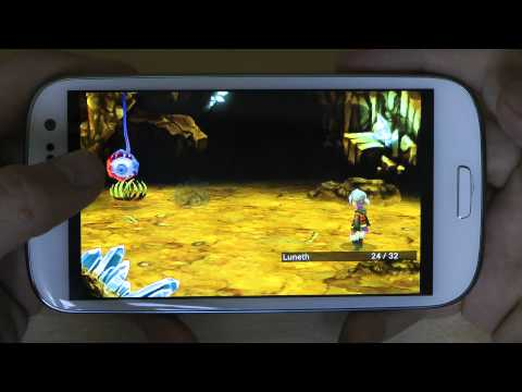 Final Fantasy III For Samsung Galaxy S3 Gameplay & First Hands-On