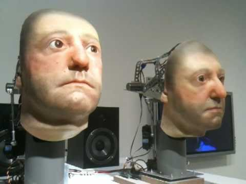 Creepy Singing Android Heads