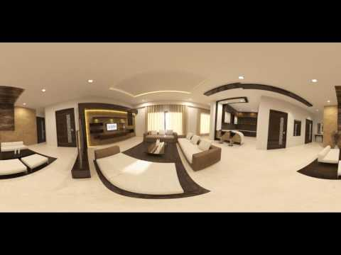 LIVING ROOM 360 VR 3D Interior Design