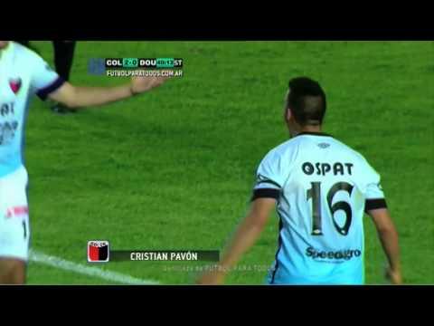 Gol de Pavón. Colón 2 - Douglas Haig 0. Fecha 10. Torneo Primera División 2014. FPT.
