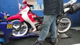 Yamaha 125ZR 2T Fully Modded Dyno Health Check Motodynamics Technology Malaysia