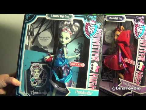 Monster High Story THREADARELLA & LITTLE DEAD RIDING WOLF Fairy Tales Dolls Review! by Bin's Toy Bin