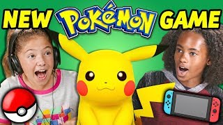 KIDS REACT TO NEW POKÉMON GAME! (Let's Go Pikachu)