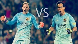 Claudio Bravo vs Marc-André ter Stegen ● Best saves ● FC Barcelona 2015-16