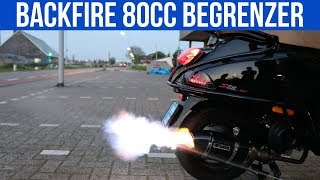 BACKFIRES 80CC + BEGRENZER & CARBON TUNING UITLAAT - VOL GAS MET JOEY