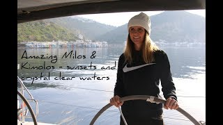 14. Sailing to Milos in the Greek Islands | Sailing around the world | Sailing Cyclades in winter