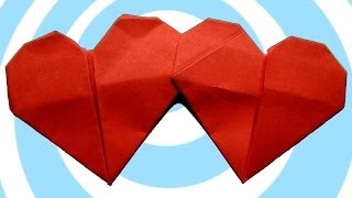 Double Heart Origami Instructions