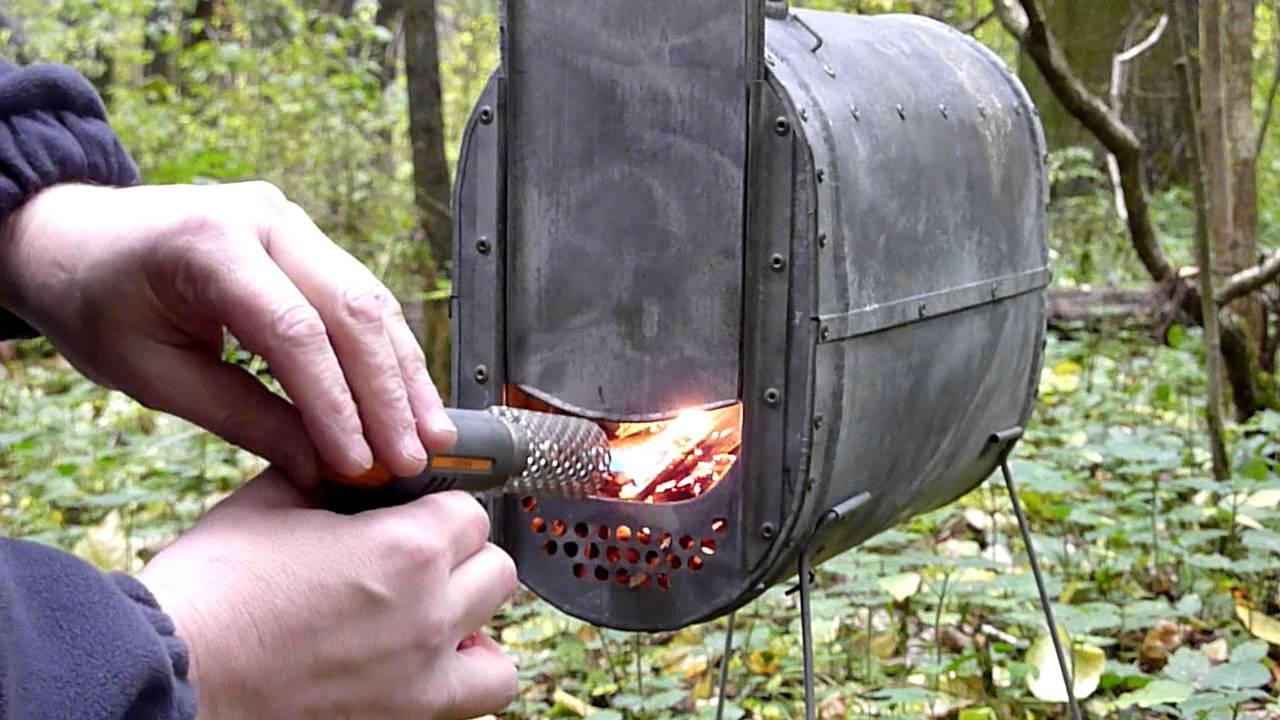 Разборная печка для палатки своими руками 25