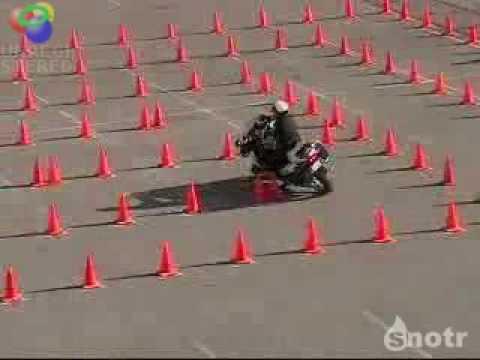 O melhor teste de baliza....Moto