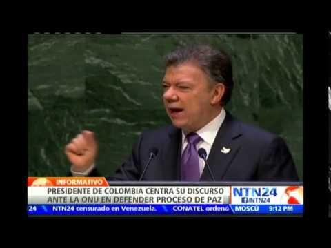 """""""Estamos más cerca que nunca de lograr la paz"""": Juan Manuel Santos en la Asamblea General de la ONU"""