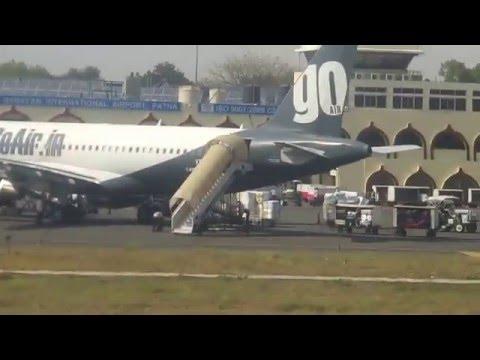 Indigo Airlines Airbus A320-232 takeoff from Lok Nayak jayaprakash Airport Patna