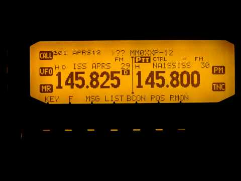 ISS International Space Station APRS 27-04-2011 Kenwood TMD-710