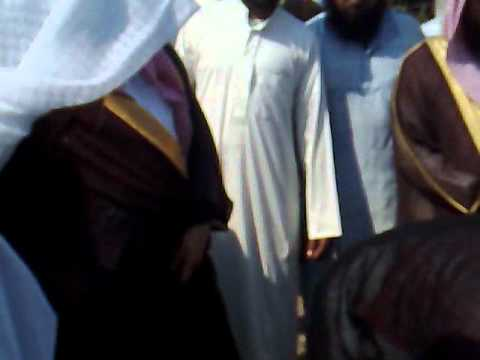 Foundation of Community Hall by Shaikh Ayed Al Qarni Jogwad