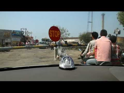 Railway crossing at Shamli