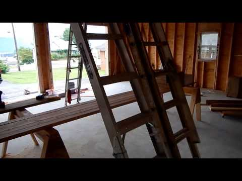 Garage build part 2 and attic ladder review