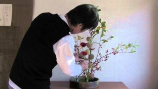 瞳生式いけ花(IKEBANA)Flower arrangement