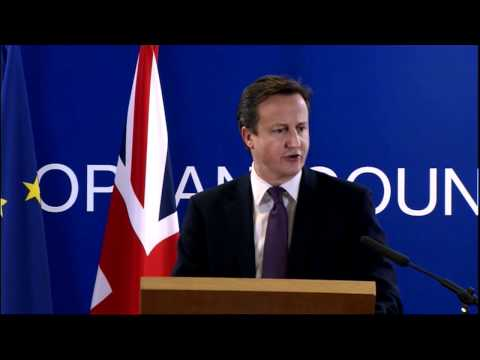 David Cameron press conference, Brussels, December 2011